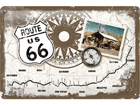 Retro metallposter Route 66 kompass 20x30cm SG-74266