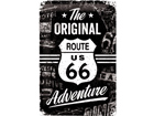 Retro metallposter Route 66 The Original Adventure 20x30cm SG-74267