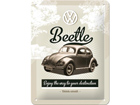 Retro metallposter VW Beetle 15x20cm