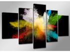 Viieosaline seinapilt Värvid 200x100 cm ED-75057