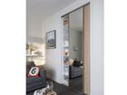 Liuguksed Prestige, 1 peegel ja 1 melamiin uks 110x250 cm KP-76004