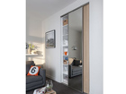 Liuguksed Prestige, 1 peegel ja 1 melamiin uks 120x250 cm KP-76005