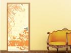 Fototapeet Grunge Orange Scroll 100x210cm ED-76711