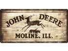 Retro metallposter John Deere 25x50cm SG-78372