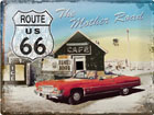 Retro metallposter Route 66 The Mother Road 30x40cm SG-78373