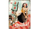 Retro metallposter Strike 30x40cm SG-78378