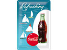 Retro metallposter Coca-Cola Refreshing Purjekas 20x30cm SG-78401