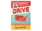 Retro metallposter Route 66 Discover America 20x30cm SG-78916