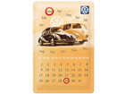 Retro metallkalender VW Der Volkswagen 20x30cm SG-82359