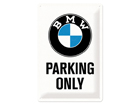 Retro metallposter BMW Parking only 20x30 cm
