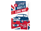 Retro metallposter MiniA little goes long way 20x30 cm SG-84343