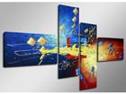 Neljaosaline seinapilt Optik 160x70 cm ED-86576
