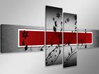 Neljaosaline seinapilt Punane sein 160x70 cm ED-86587