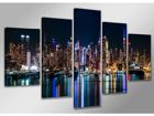 Viieosaline seinapilt New York 200x100 cm ED-88845