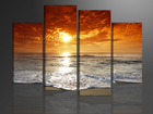 Neljaosaline seinapilt Päikeseloojang 130x80 cm ED-88913