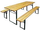 Kokkuklapitav aiamööbel, laud 70x220 cm + 2 pinki VV-90347