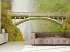 Fliis-fototapeet Bridge near waterfall 360x270 cm ED-90596