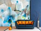 Fliis-fototapeet Blue flowers 360x270 cm ED-90692
