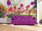 Fliis-fototapeet Tulips and peonies 360x270 cm ED-90697