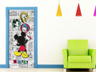 Fliis-fototapeet Disney Mickey draws 90x202 cm ED-90999
