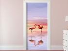 Fliis-fototapeet Flamingos 90x202 cm ED-91078