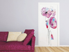 Fliis-fototapeet Watercolor poppies 90x202 cm ED-91145