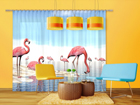 Poolpimendav fotokardin Flamingos 280x245 cm ED-95348