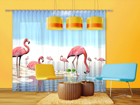 Pimendav fotokardin Flamingos 280x245 cm ED-95877