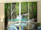 Läbipaistev paneelkardin Thai Waterfall in Spring 240x240 cm ED-97636
