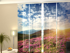 Läbipaistev paneelkardin Flowers and mountains 240x240 cm ED-97639