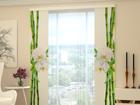 Läbipaistev paneelkardin Bamboo and white orchid 80x240 cm ED-97731