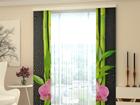 Läbipaistev paneelkardin Orchids and Bamboo 80x240 cm ED-97802