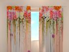 Läbipaistev kardin Flower lambrequins pink spring 240x220 cm ED-97933
