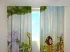 Läbipaistev kardin Funny animals 220x240 cm ED-97993