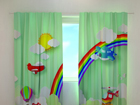 Poolpimendav kardin Helicopter over the rainbow 240x220 cm ED-98179