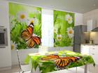 Läbipaistev kardin Butterfly and camomiles 200x120 cm ED-98509