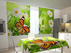 Poolpimendav kardin Butterfly and camomiles 200x120 cm ED-98510
