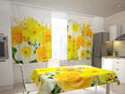 Poolpimendav kardin Roses and narcissi 200x120 cm ED-98540