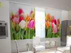 Läbipaistev kardin Tulips in the kitchen 200x120 cm ED-98568