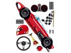 Seinakleebis Formula 1, 42,5x65 cm