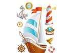 Seinakleebis Ship 65x85 cm ED-98898