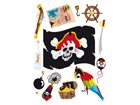 Seinakleebis Pirate 65x85 cm ED-98908