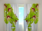 Poolpimendav kardin Lime coloured orchid 240x220 cm ED-99367