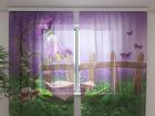 Šifoon-fotokardin Fairy shower 240x220 cm ED-99928