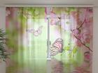 Šifoon-fotokardin Butterflies in spring 240x220 cm ED-99991