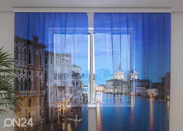 Šifoon-fotokardin Evening Venice 240x220 cm ED-100011