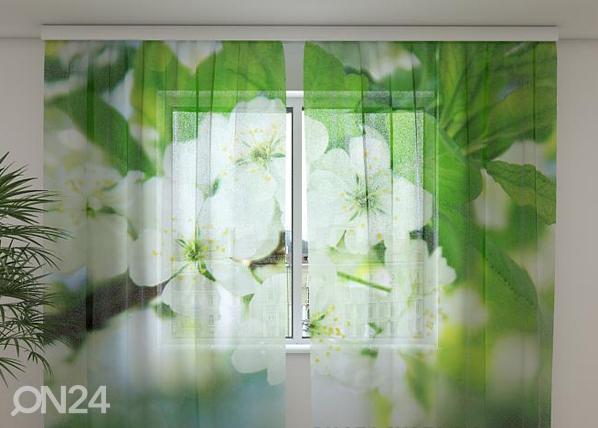 Šifoon-fotokardin Spring flowers 240x220 cm ED-100014