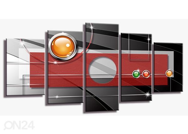 Viieosaline seinapilt Abstrakt ED-100997