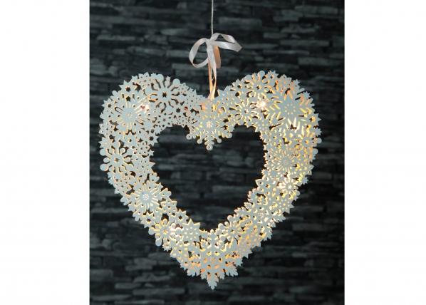 Aknakaunistus Snowflake Heart AA-101071