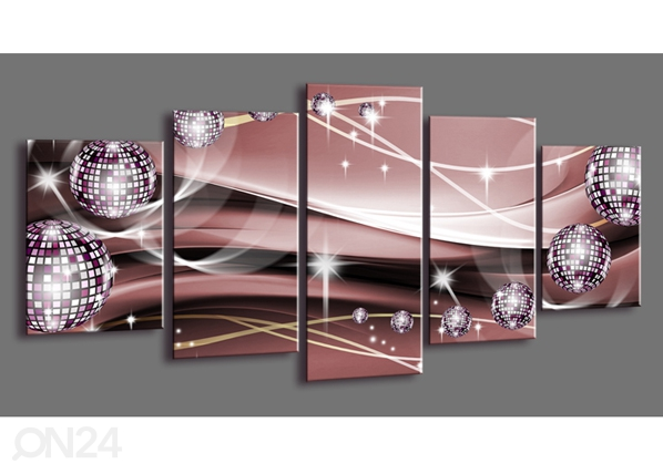 Viieosaline seinapilt Abstrakt 200x100 cm ED-101090